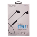 QUMO Freedom Style Mini (BT-0011) - Наушники, микрофоны Qumo QUMO Freedom Style Mini (BT-0011) , темно серый, затычки, Bluetooth 4.2, 80 мА-ч, до 4х часов в режиме разговора[21779]
